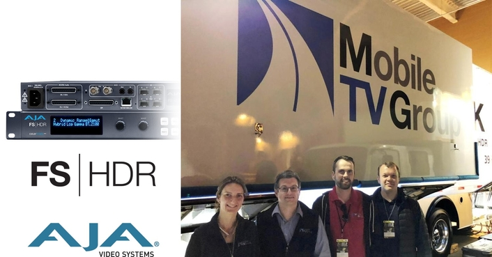 AJA FS-HDR Hits the Road for Mobile TV Group 4K/UHD HDR Broadcasts