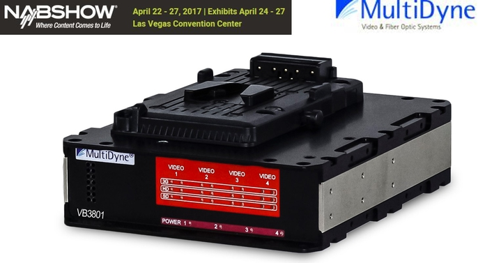 To be introduced at NAB2017 Show, new series of rugged, compact fiber transport is designed to meet specifications of new camera models as they come to market
