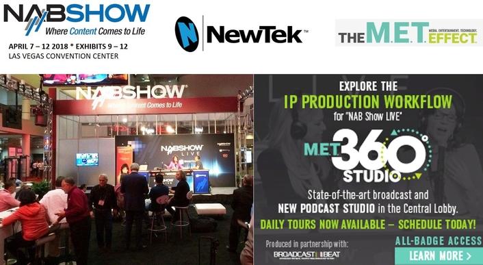 NewTek NDI® IP Workflow Drives NAB Show LIVE