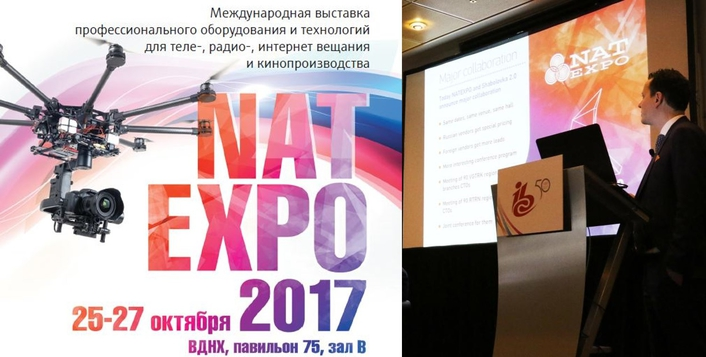 Two major Russian broadcast shows merge. NATEXPO and Shabolovka 2.0