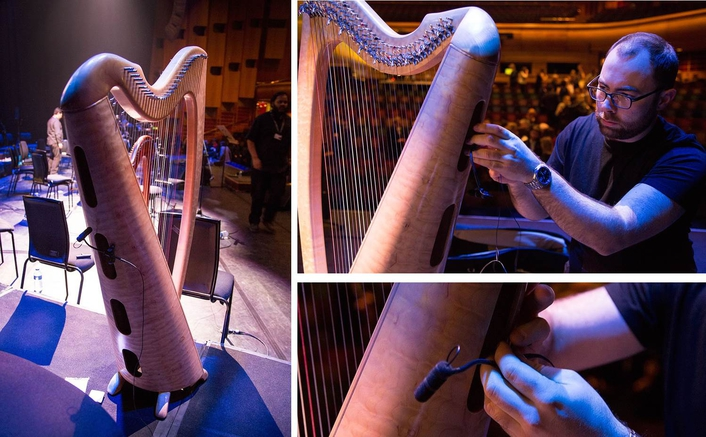 The company's d:vote™ Instrument Microphones were used to amplify various instruments, including the harps that are so important to the Orchestra's sound