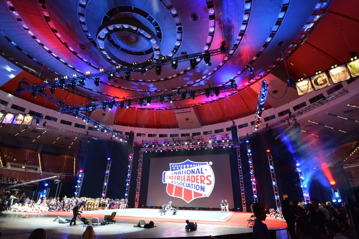 Elation Lighting and Video for National Cheerleading Association All-Star National Championship