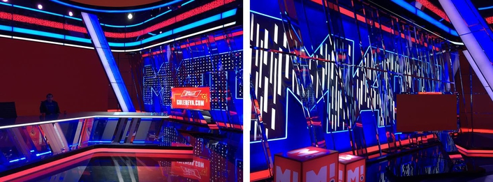 New Russian broadcaster implements augmented reality in a highly reflective studio as well as on location