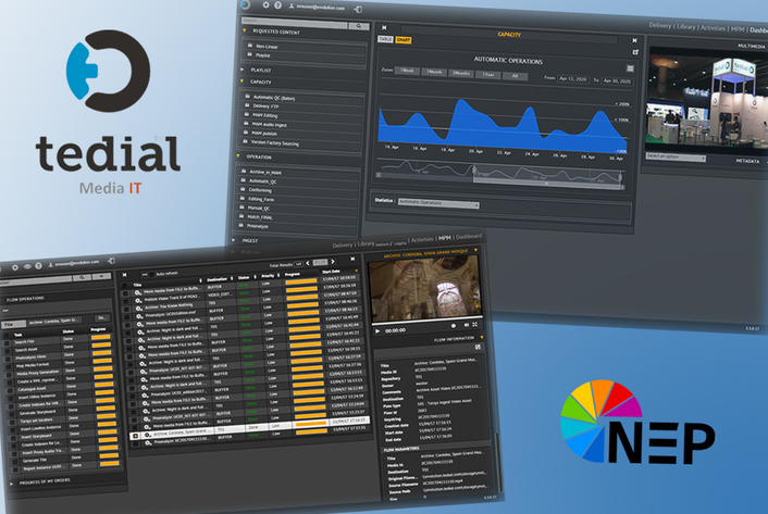 NEP The Netherlands Selects Tedial's Award-Winning  Evolution Media IT Platform