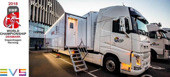 NEP SWEDEN ROLLS OUT EVS XT4K SERVERS IN ITS NEW UHD-1 OB FOR 2018 IIHF ICE HOCKEY WORLD CHAMPIONSHIP