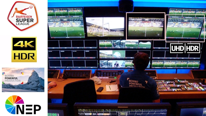 NEP Switzerland Pioneers in UHD/HDR Production for Swiss Football League RSL