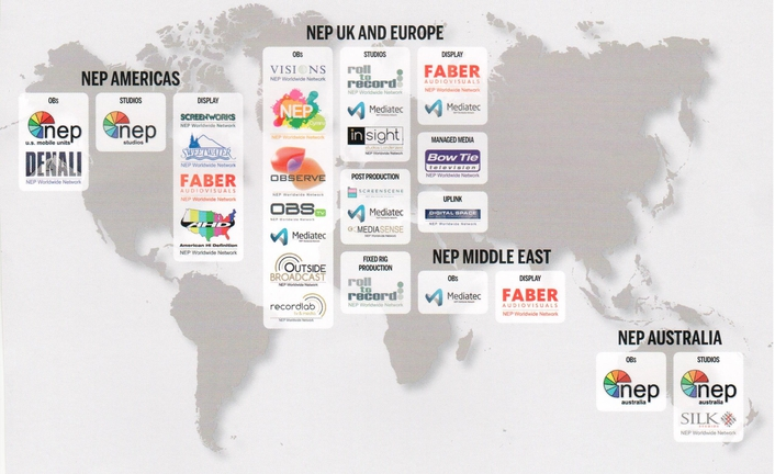 NEP is one of the largest outsourced production partners supporting premiere content producers across the broadcast and live events industries