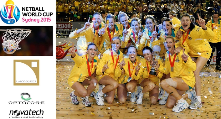 Novatech partnered with the Netball World Cup SYDNEY 2015 as their Technical Production Team
