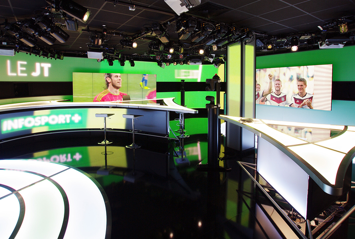 Robert Juliat lights up CANAL+ new INFOSPORT+ TV studio with Tibo LED profiles
