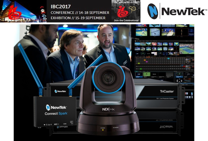 NewTek To Showcase The World's First End-to-End IP Video Production Solution At IBC2017