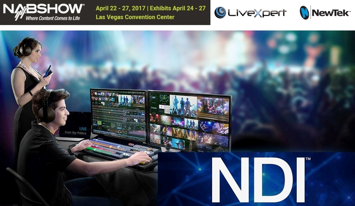 3D Storm, authorized distributor of NewTek products and LiveXpert, showcased the latest LiveXpert solutions at NAB2017 in NDI Central