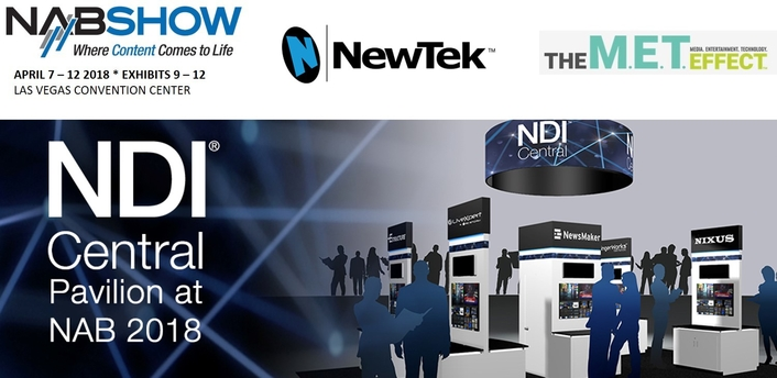 NewTek NDI Central Pavilion and Live Webcast at NAB2018
