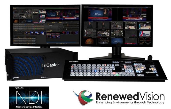 Renewed Vision Adopts NewTek NDI for IP Production Workflow