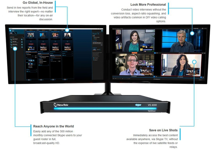 NewTek Ships TalkShow VS 4000 Multi-Channel Video Calling System
