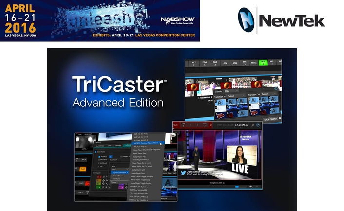 TriCaster® Advanced Edition Upgrade Brings Next-Generation  IP Video Production and Effects Capabilities