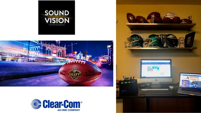 Sound and Vision Entertainment and Freeman Provide Secure Remote Production Needs for Spring Draft