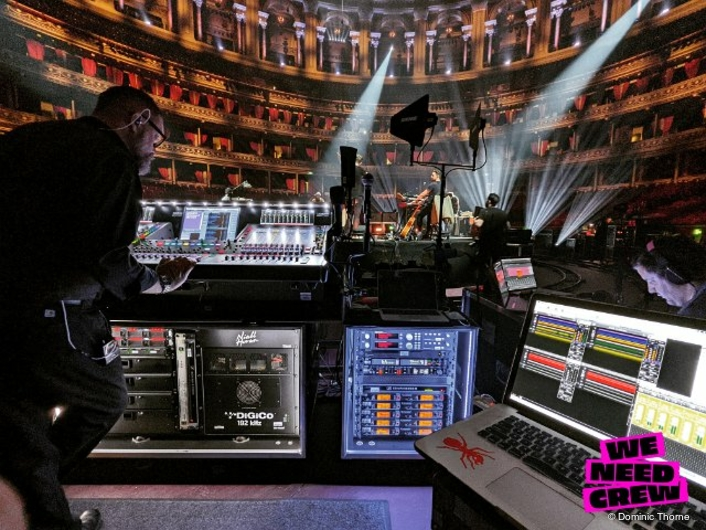 DiGiCo SD5s handle broadcast and monitor mixes for Niall Horan's Royal Albert Hall livestream