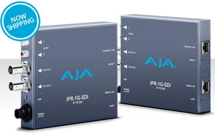 AJA Releases IPR-1G-SDI Mini-Converter for IP Workflows