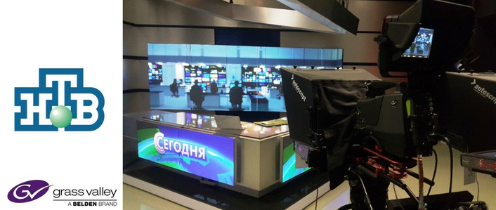 Russia's NTV Updates News Production with 30 Grass Valley Cameras