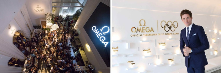 OMEGA Ambassador Eddie Redmayne attends the Opening Night of  OMEGA HOUSE in Rio de Janeiro