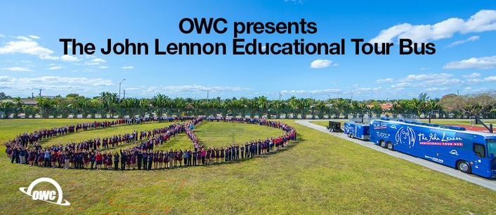 OWC Partners with the John Lennon Educational Tour Bus as 2018 Presenting Sponsor
