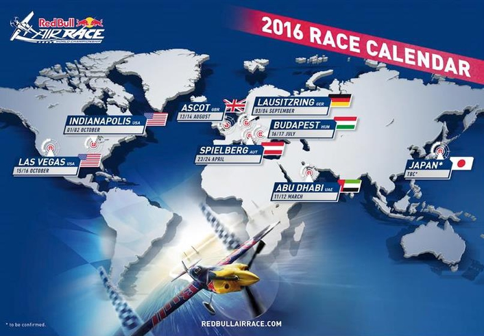 Red Bull Air Race 2016 calendar announced with new locations in Germany and U.S.