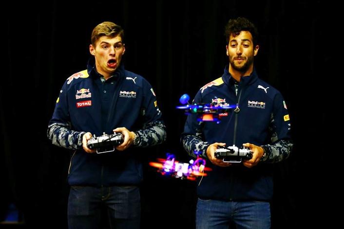 MAX VERSTAPPEN AND DANIEL RICCIARDO DRONE ON IN MONTREAL