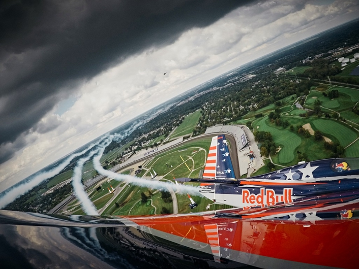 The pilots of the Red Bull Air Race have been waiting all season for their first glimpses of Indianapolis Motor Speedway, and on Thursday they got their chance, with spectacular views from their raceplanes