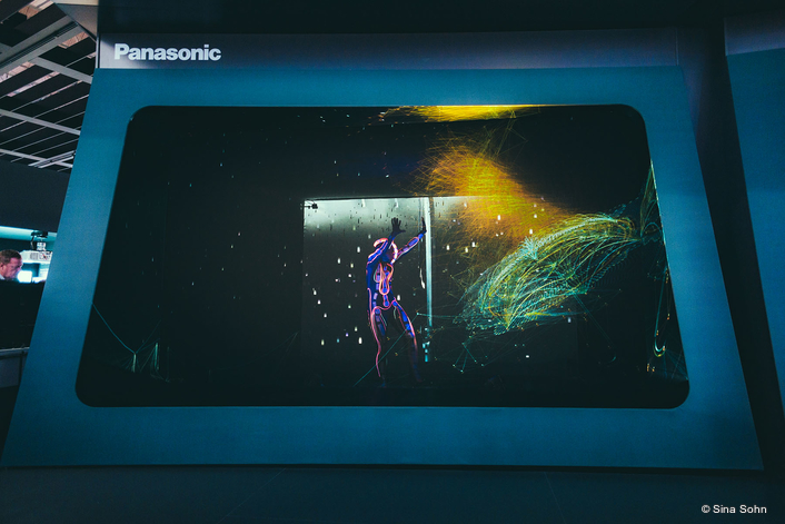 "Painting with Light makes ""Senses""  for Panasonic at ISE"
