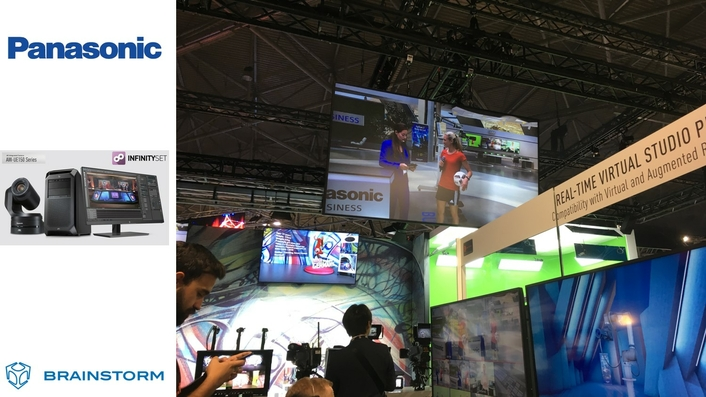 Brainstorm showed advanced AR at the Panasonic stand