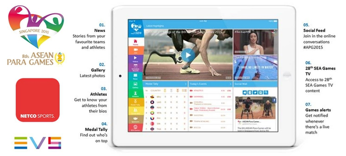 Netco Sports brought inclusive 8th ASEAN Para Games' emotions to sports fans worldwide with a brand new look for the Para Games app
