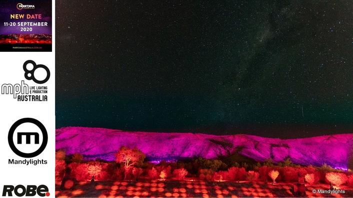 Robe Illuminates Mountains for  Parrtjima Festival of Light