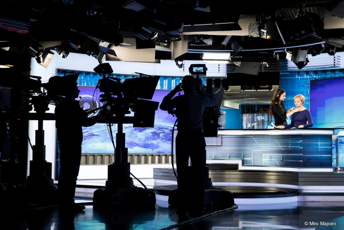 Philips Lighting's LED studio fresnel fixtures being chosen to provide professional quality, low-energy lighting solutions for Slovenia's leading commercial television studio, POP TV