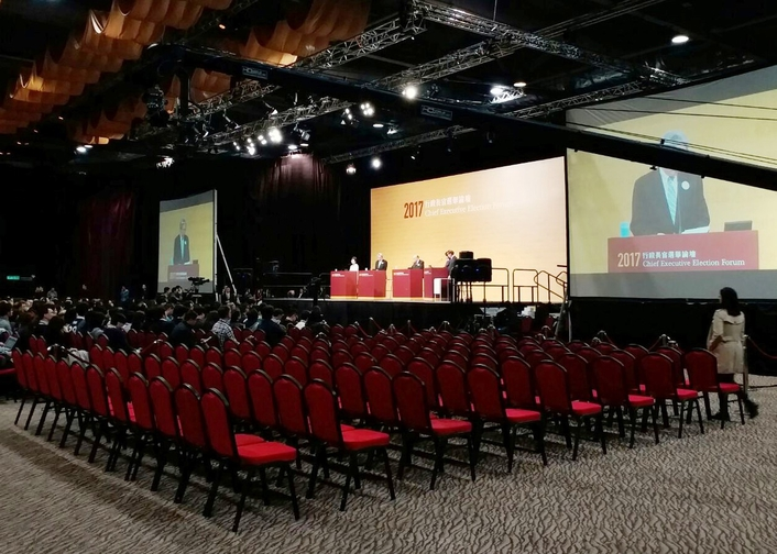 The Chief Election Forum in Hong Kong Broadcasted Live in March using Ross Video