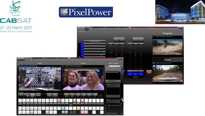 Pixel Power leads on virtualization, productivity and flexibility at CABSAT 2017