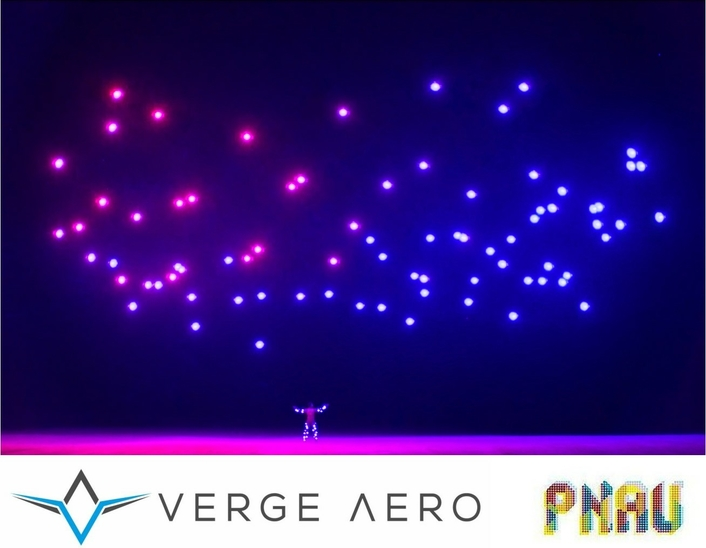 Verge Aero flies world's first music video drone show with PNAU