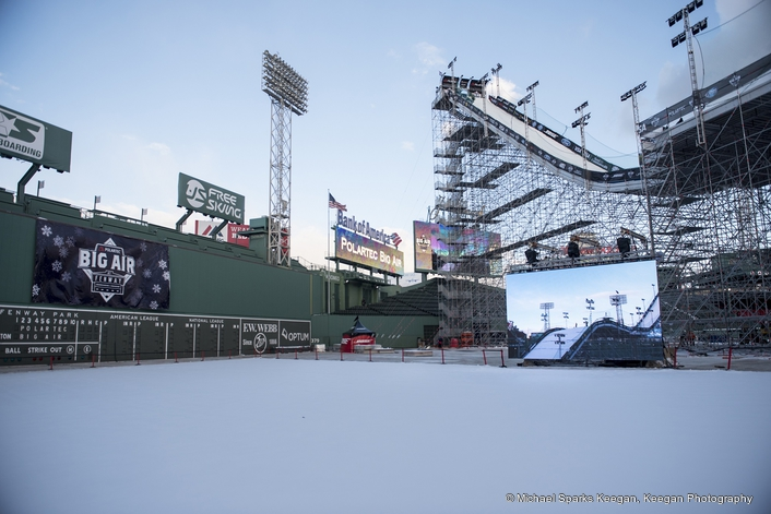 Thrills and spills as Elation EPT6IP™ LED video screens highlight the world's best snowboarders and skiers at chilly big air event in Boston