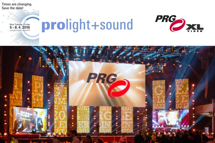 "PRG in the ""Festhalle"" Frankfurt at the Prolight + Sound 2015"