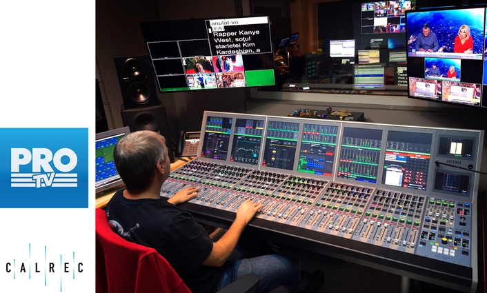 Romania's Pro TV upgrades further with Calrec's Artemis Beam