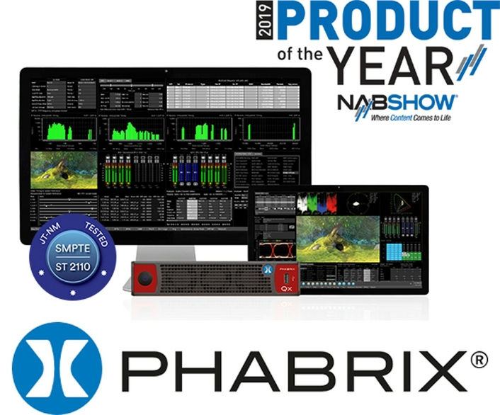PHABRIX Qx IP V3.0 rasterizer wins 2019 NAB Show Product of the Year and successfully passes JT-NM SMPTE ST 2110 testing