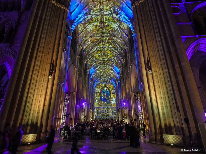 Artists Ross Ashton and Karen Monid returned to York Minster to deliver an immersive and intricately crafted sonic and visual work 'Northern Lights'