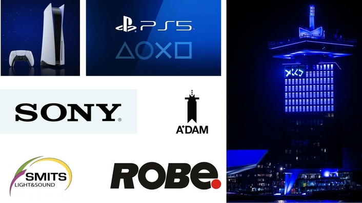 Robe Lights ADAM Tower for  PS5 Launch Event