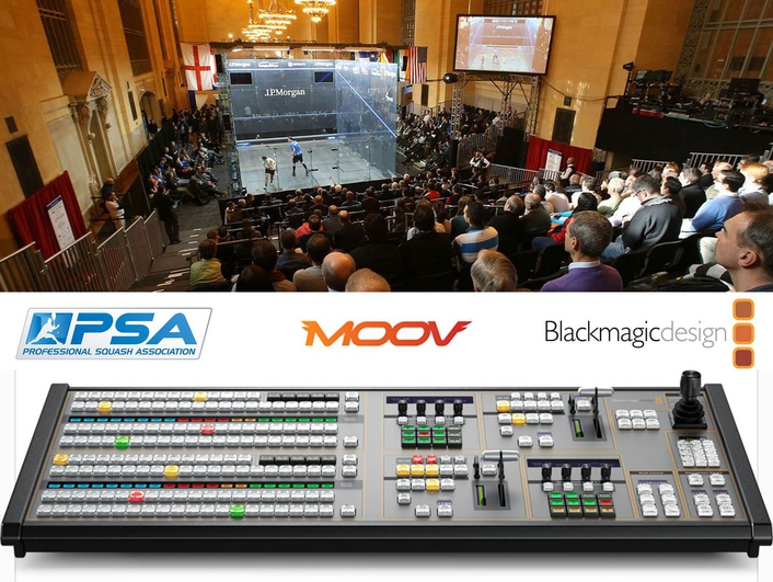 At the heart of MOOV's compact flyaway studio is Blackmagic's ATEM 2 M/E Production Studio 4K
