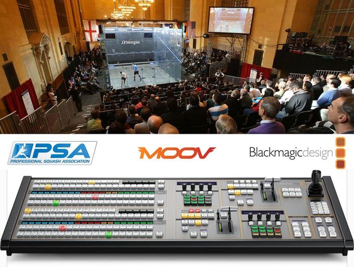 At the heart of MOOV's compact flyaway studio is Blackmagic's ATEM 2 M/E Production Studio 4K