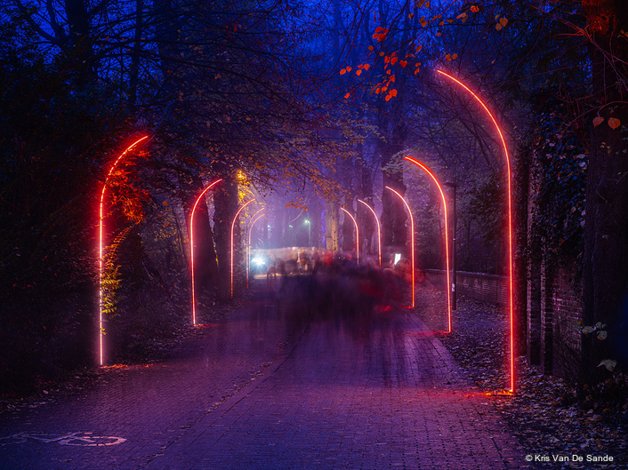 Painting Bruges with Light for  2019 Wintergloed Event