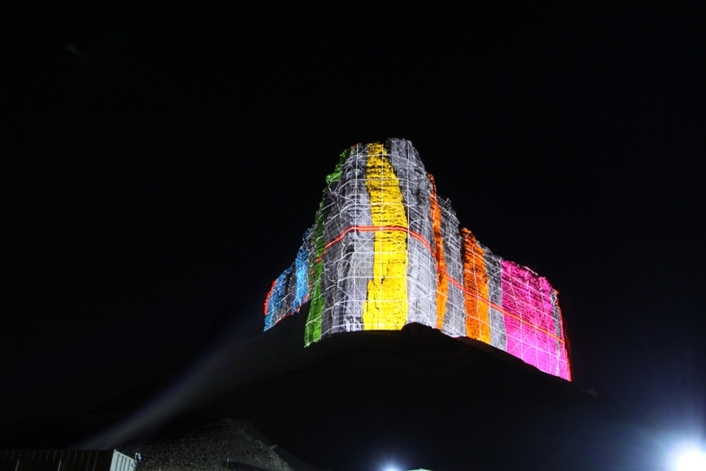 VIOSO Support World's Largest Permanent Projection on Tuwaiq Mountains