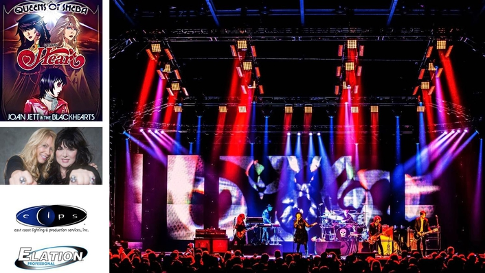 """Elation ACL 360 Matrix™ Effects for Heart on """"Queens of Sheba"""" Tour"""