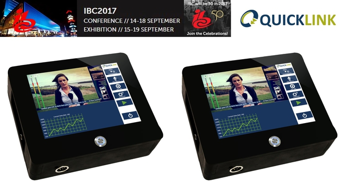 Mobile Encoder to be shown by Quicklink at IBC 2017