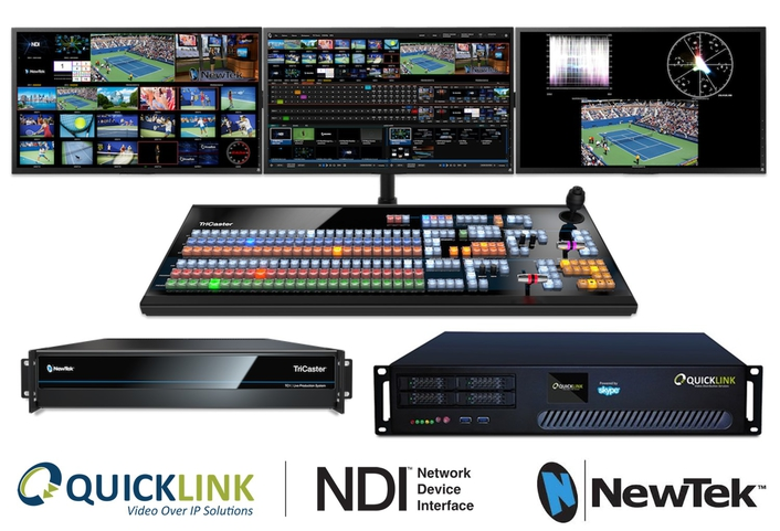 Quicklink products integrate NewTek NDI™ IP Technology