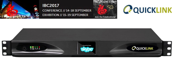 Quicklink to showcase Quicklink TX at IBC 2017